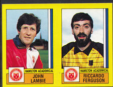 Panini Football 1987 Sticker - No 511 - Hamilton - John Lambie & Ferguson