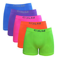 5 X Men's Microfibre Boxer Shorts Wicking Sports Running Active Seamless Neon
