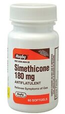 Rugby Simethicone Gas Relief 180mg 60 Softgels