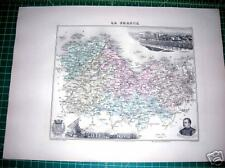 COTES du NORD France 1885 French Provincial Map