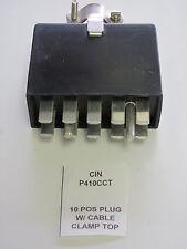 Cinch P-410-CCT, 10 Position 15A, Plug, Cable Clamp Top, Beau P-4410-CCT