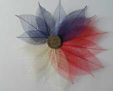 SKELETON LEAVES RED, NATURAL & BLUE approx Size 3 - 8 cm x20