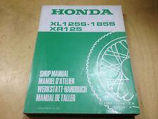 Werkstatthandbuch XL 125 S (JD02) ,XL 185 S,Z,A (MD02) ,XR 125 A (JD01/04)
