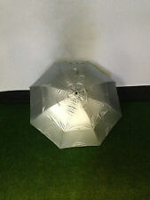 New Silver Fireform Staff Umbrella with UV/Solar Protection Gust Buster