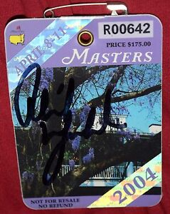 PHIL MICKELSON Signed 2004 MASTERS Badge *Low # *JSA