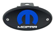 Dodge Jeep Chrysler MOPAR M Receiver Hitch Cover Black with Blue
