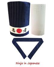 4pcs Hibachi Chef Hat Set, Hibachi hat sets, tall hat, headband, plastic net New