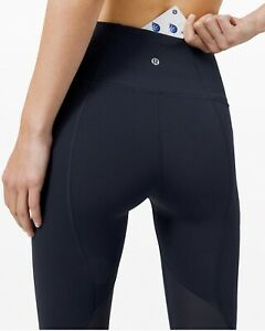"""Lululemon Pace Rival HR Crop 22"""" Luxtreme LW6BAVS TRNV Navy Blue Size 4 New/Tag"""