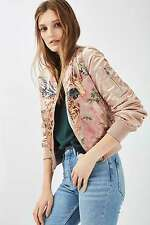 Topshop Pink Tiger Printed MA1 Bomber Jacket Outerwear UK 10 EURO 38 US 6 BNWT