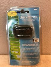 Pedometer Step & Distance Sportline #340 Basic Series Sealed NIP   LOT OF TWELVE