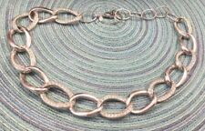 Premier Designs Necklace Rhinestone Crystal & Silvertone Chunky Chain Choker