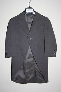 Luxury Wilvorst Surrey Children Boys Frock Coat Tailcoat Wedding Grey Wool Blend