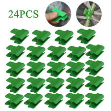 24F Greenhouse Clamp Film Row Cover Netting Tunnel Hoop Clips For Plant Stakes