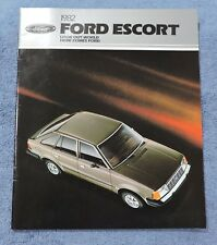 1982 FORD ESCORT DEALER SALES BROCHURE - FULL LINE - INCLUDES WOODY