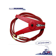 Electric Fence Crocodile Clips - Live Lead on Red Crocodile Clip