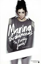 MARINA & THE DIAMONDS poster THE FAMILY JEWELS  - 11 x 17 inches