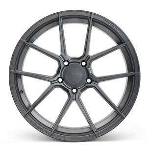"""20"""" FERRADA F8-FR8 GRAPHITE FORGED CONCAVE WHEELS RIMS FITS FORD MUSTANG GT"""