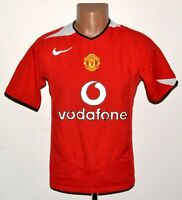MANCHESTER UNITED 2004/2005/2006 HOME FOOTBALL SHIRT JERSEY NIKE SIZE S ADULT