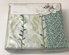 SKY  Ombre Vines Green and White Floral Twin Duvet Cover Set