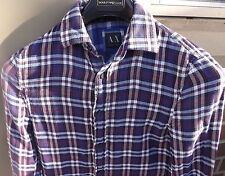 ARMANI EXCHANGE A/X Mens Long Sleeve Multi-Color Button Up Shirt Flip Cuffs XS