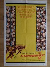 THE LONGEST DAY (1962) - original US 1 Sheet film/movie poster, world war 2, ww2