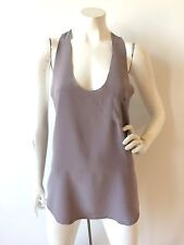 "JOIE ""SAUNDERS"" SILK POCKET TANK TOP GRAY SIZE M $144"