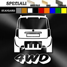 adesivo sticker fiat PANDA mk2 4x4 4wd tuning down-out decal prespaziato,auto