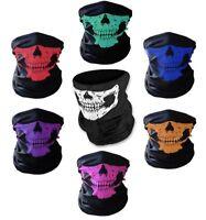 Half Skull Face Mask Bandana Balaclava Headwear For Motorcycling