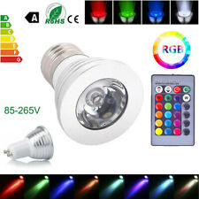 4pcs RGB LED Spot Light Bulb Lamp Dimmable GU10 16 Color 12V Remote Control Kit