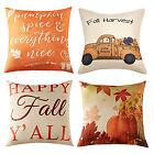 Fall Halloween Pumpkin Pillow Case Linen Throw Cushion Cover Sofa Home Decor US