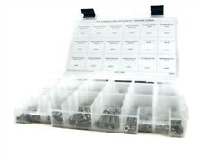 Stainless Steel Phillips Pan Head Machine Screw Assortment Kit with Nuts 496pc