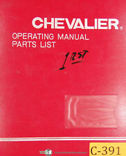 Chevalier FSG-1020 AD Grinding & Attachment, Operations Parts Maintenance Manual