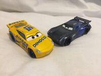 Disney Pixar Cars JACKSON STORM & DINOCO CRUZ BUNDLE 1:55 Diecast TOKYO DRIFT