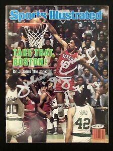 Julius Erving Signed Sports Illustrated Mag 5/31/82 No Label Dr. J Nets Auto UDA