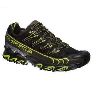 La Sportiva Ultra Raptor Scarpa trail running hiking nero black apple green