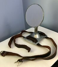 Vintage Bugatti Car Spare Tire Mounted Side Mirror with New Leather Straps