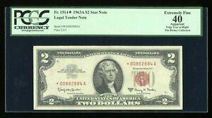 DBR 1963A $2 Legal STAR Fr. 1514* PCGS App 40 Serial *00882884A
