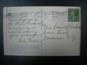 WORLD'S FAIR STA., NY, MACHINE CANCEL ON NY WORLD'S FAIR POSTCARD, 8/14/1939