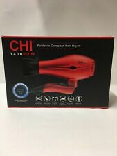 CHI 1400 SERIES Red Compact Foldable Hair Dryer