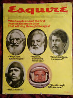ESQUIRE July 1969 THE MOON PAUL ANDERSON JEAN-LUC GODARD Jesse Hill Ford