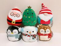 """Set of 6 Kellytoy Squishmallows 2020 Christmas Collection 5"""" Mini Plush Doll Toy"""