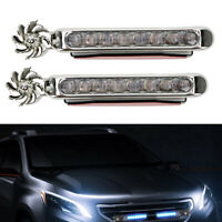 2PCS AUTOMATIC WIND POWER LED CAR LIGHT MOTORCYCLE DAYLIGHT WITH ROTATION FAN