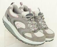 Skechers Shape Ups 11806 Gray Toning Walking Rocker Shoes Women's US 8