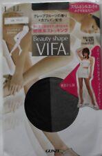 Gunze pantyhose Beauty shape VIFA Black Aroma of grapefruit+caffeine blend L-LL