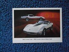 1982 Corvette Collector Eddition Coupe Postcard