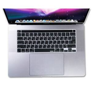 XSKN Arabic Language Keyboard Cover for A2141 New Touch Bar MacBook Pro 16 US&EU