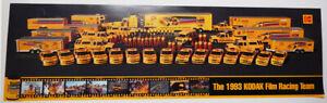 NASCAR, Kodak Film Racing. Ernie Ervan, 1993, Show Car Poster