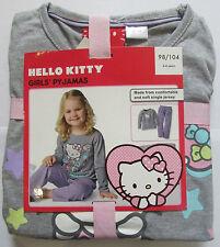 NUEVO Pijamas De Niña set Hello Kitty 2-4 años Algodón Camiseta de manga larga