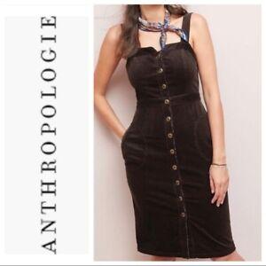 Anthropologie Corduroy Buttondown Dress  size 2