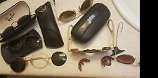 Lot 6 Vintage Ray Ban B&L USA Julbo Aviator SCR Parts cases ect AS-IS- See Pics!